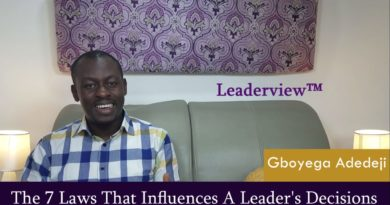 Leadership Responsibilities: The 7 Laws That Influences A Leader's Decisions Pt.1